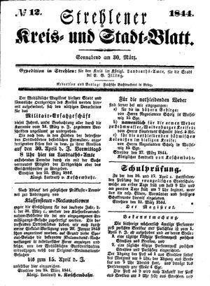Strehlener Kreis- und Stadtblatt vom 30.03.1844