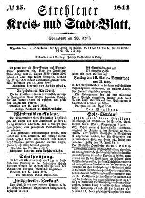 Strehlener Kreis- und Stadtblatt on Apr 20, 1844
