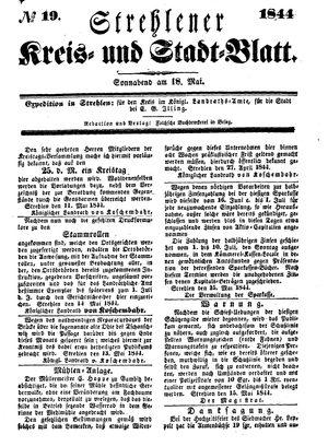 Strehlener Kreis- und Stadtblatt vom 18.05.1844