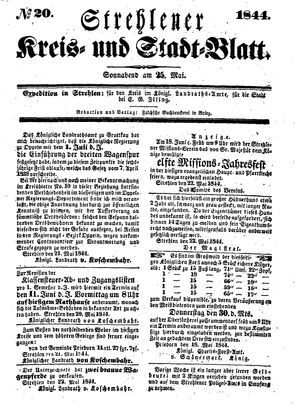 Strehlener Kreis- und Stadtblatt on May 25, 1844