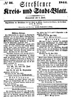 Strehlener Kreis- und Stadtblatt vom 01.06.1844