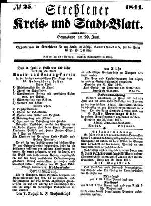 Strehlener Kreis- und Stadtblatt vom 29.06.1844