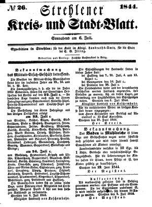 Strehlener Kreis- und Stadtblatt vom 06.07.1844