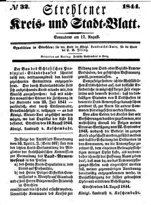 Strehlener Kreis- und Stadtblatt vom 17.08.1844