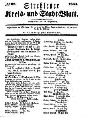Strehlener Kreis- und Stadtblatt vom 28.09.1844