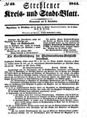 Strehlener Kreis- und Stadtblatt vom 02.11.1844