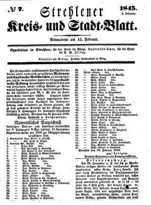 Strehlener Kreis- und Stadtblatt on Feb 15, 1845