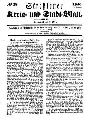 Strehlener Kreis- und Stadtblatt vom 03.05.1845