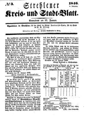 Strehlener Kreis- und Stadtblatt vom 17.01.1846