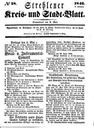 Strehlener Kreis- und Stadtblatt vom 02.05.1846