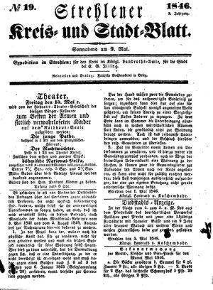 Strehlener Kreis- und Stadtblatt vom 09.05.1846