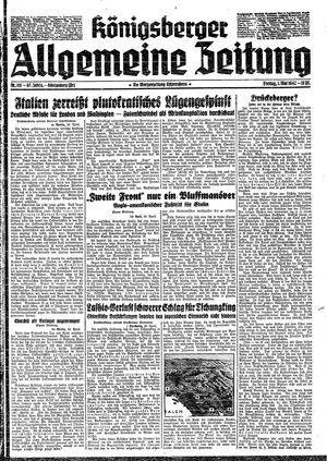 Königsberger allgemeine Zeitung vom 01.05.1942