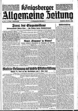 Königsberger allgemeine Zeitung vom 02.05.1942