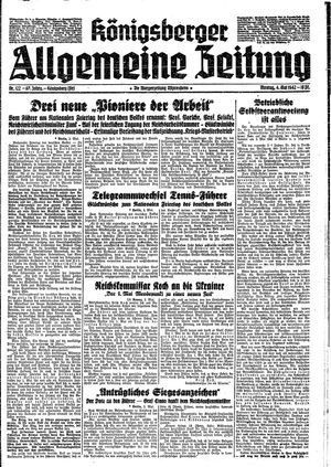 Königsberger allgemeine Zeitung vom 04.05.1942