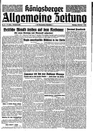 Königsberger allgemeine Zeitung vom 05.05.1942
