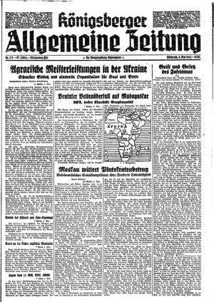 Königsberger allgemeine Zeitung vom 06.05.1942