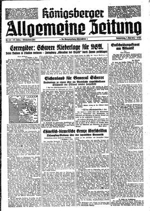 Königsberger allgemeine Zeitung vom 07.05.1942
