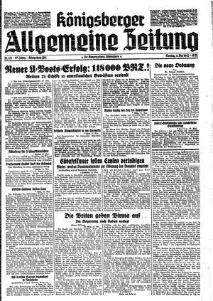 Königsberger allgemeine Zeitung vom 11.05.1942