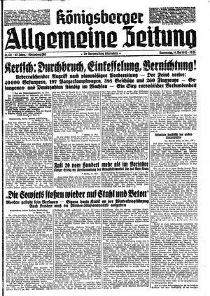 Königsberger allgemeine Zeitung vom 14.05.1942