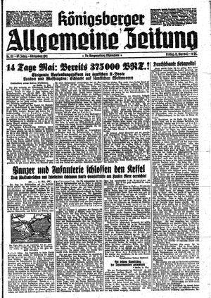 Königsberger allgemeine Zeitung vom 15.05.1942