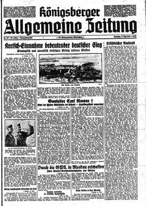Königsberger allgemeine Zeitung vom 17.05.1942