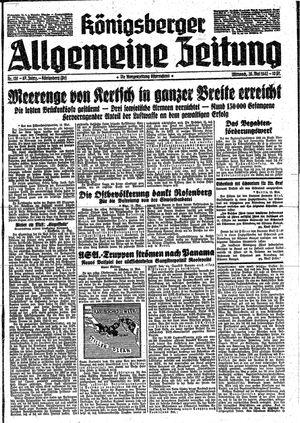 Königsberger allgemeine Zeitung vom 20.05.1942