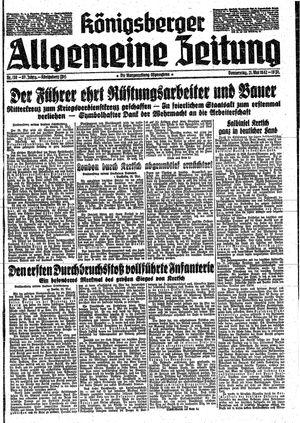 Königsberger allgemeine Zeitung vom 21.05.1942