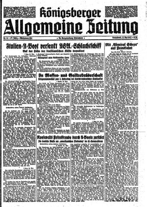 Königsberger allgemeine Zeitung vom 23.05.1942