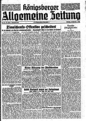 Königsberger allgemeine Zeitung vom 24.05.1942