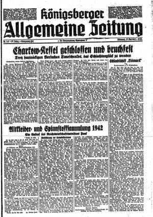 Königsberger allgemeine Zeitung vom 27.05.1942