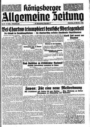 Königsberger allgemeine Zeitung on May 28, 1942