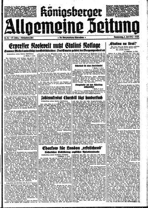 Königsberger allgemeine Zeitung vom 04.06.1942