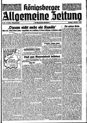 Königsberger allgemeine Zeitung vom 07.06.1942