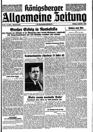 Königsberger allgemeine Zeitung vom 08.06.1942