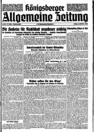 Königsberger allgemeine Zeitung vom 12.06.1942