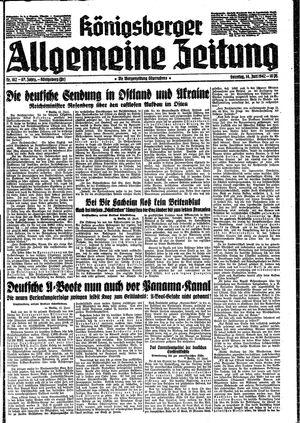 Königsberger allgemeine Zeitung vom 14.06.1942