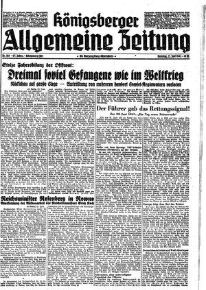 Königsberger allgemeine Zeitung vom 21.06.1942