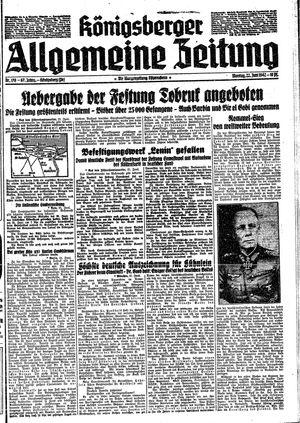 Königsberger allgemeine Zeitung vom 22.06.1942