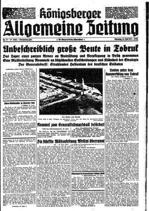Königsberger allgemeine Zeitung vom 23.06.1942