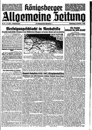 Königsberger allgemeine Zeitung vom 25.06.1942