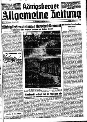 Königsberger allgemeine Zeitung vom 26.06.1942