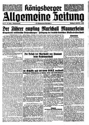 Königsberger allgemeine Zeitung vom 29.06.1942