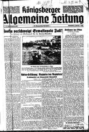 Königsberger allgemeine Zeitung vom 04.07.1942