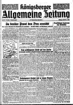 Königsberger allgemeine Zeitung vom 06.07.1942