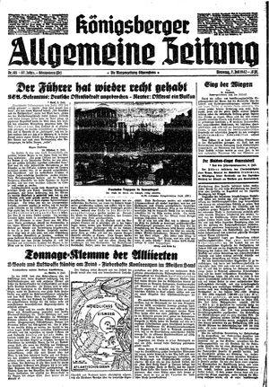 Königsberger allgemeine Zeitung vom 07.07.1942