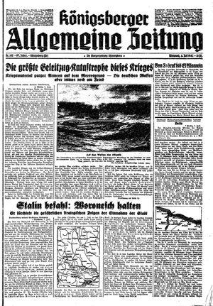 Königsberger allgemeine Zeitung vom 08.07.1942