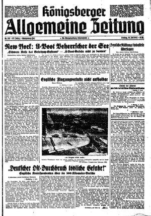 Königsberger allgemeine Zeitung vom 10.07.1942