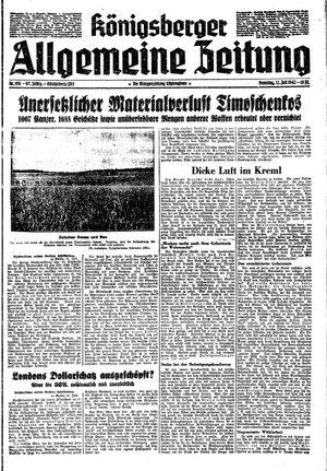 Königsberger allgemeine Zeitung vom 12.07.1942