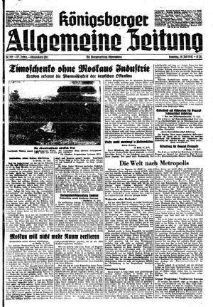 Königsberger allgemeine Zeitung vom 19.07.1942