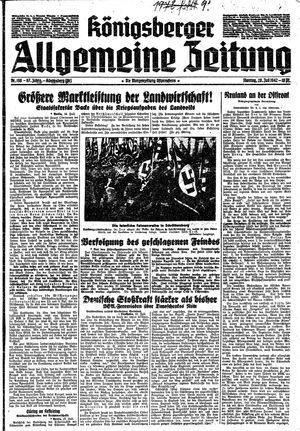 Königsberger allgemeine Zeitung vom 20.07.1942